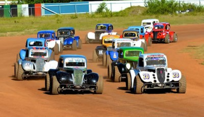 Legend Cars on dirt track